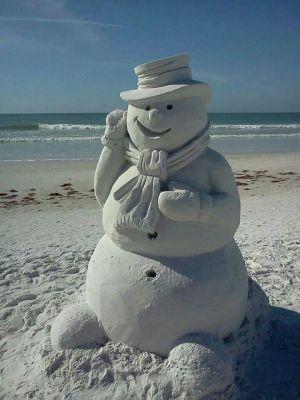 Beach snowman