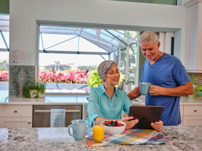 Jasmine Grande-Couple in Kitchen iPad